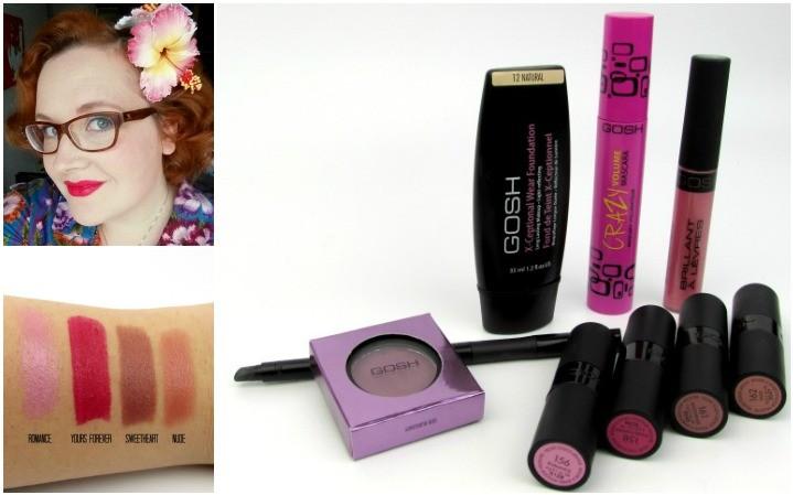 gosh make-up, swatches, mascara, eyeliner