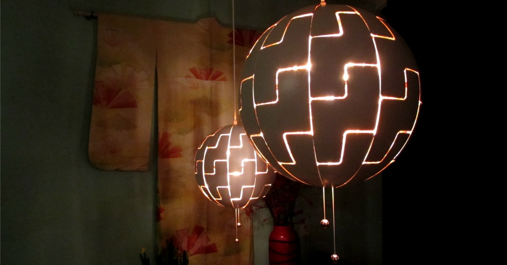 death star lamp en vintage kimono leesvoer. Black Bedroom Furniture Sets. Home Design Ideas